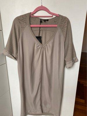 Patrizia Pepe Sukienka z krótkim rękawem jasnoszary-srebrny