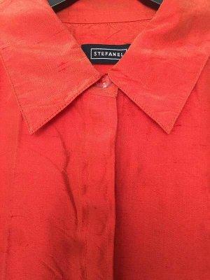 Stefanel Short Blazer neon orange silk