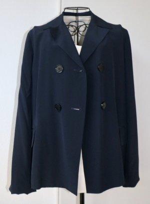 Windsor Short Blazer dark blue silk