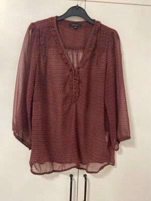 Amisu Blusa de seda multicolor