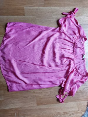 Made in Italy Blusa de manga corta rosa