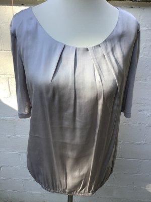 Comma Silk Blouse silver-colored silk