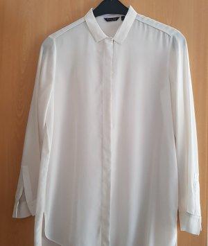 Massimo Dutti Blusa de seda blanco puro