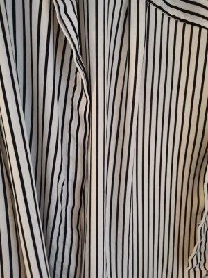 H&M DENIM Blusa in seta bianco-nero