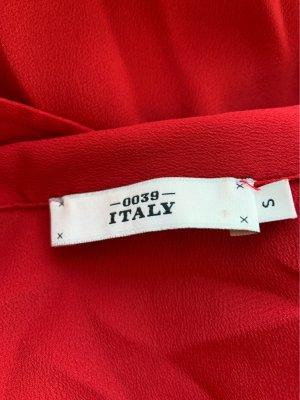 0039 Italy Zijden blouse rood