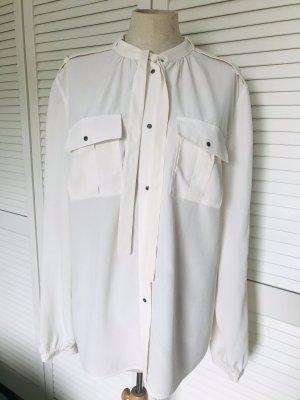 Orwell Blusa in seta bianco sporco