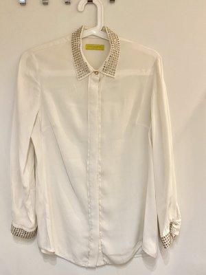 Witty Knitters Camicetta a maniche lunghe bianco Seta