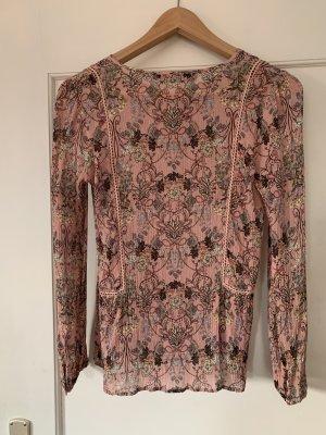 Hallhuber Donna Silk Blouse pink silk