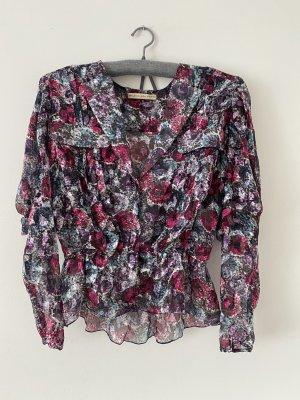 Balenciaga Colletto camicia multicolore Seta