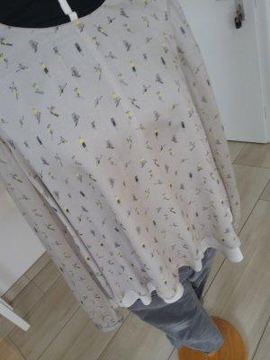 2nd Day Zijden blouse lichtgrijs