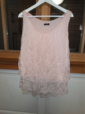 Avant Première Blusa in seta rosa chiaro-rosa