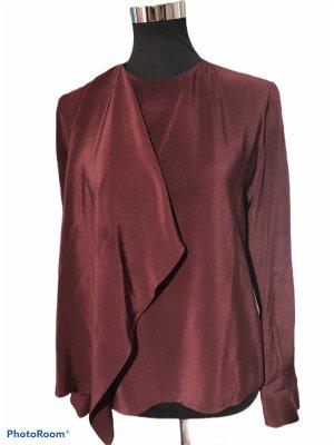 Fendi Połyskująca bluzka bordo