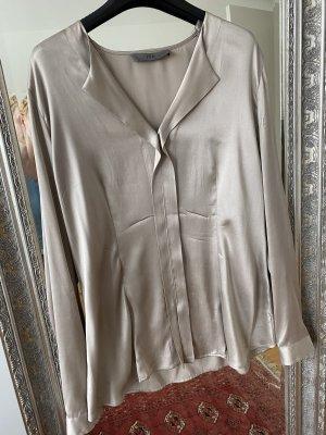 FFC Blusa in seta marrone-grigio