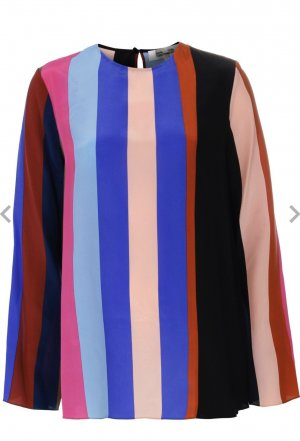 Diane von Furstenberg Silk Blouse multicolored silk