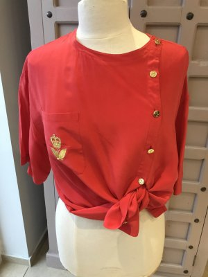 Seidenbluse Gr 42-44 Elegance Rot Vintage
