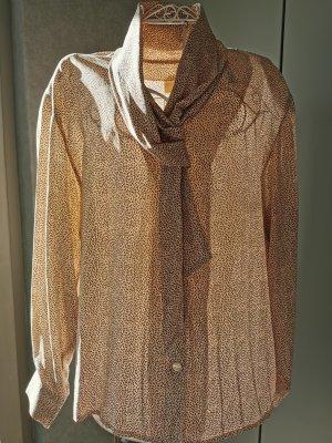 Verse Collection Zijden blouse donkerbruin-rosé