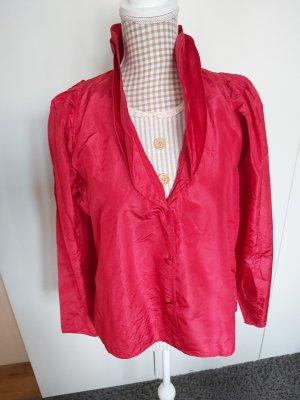 Zijden blouse neonrood