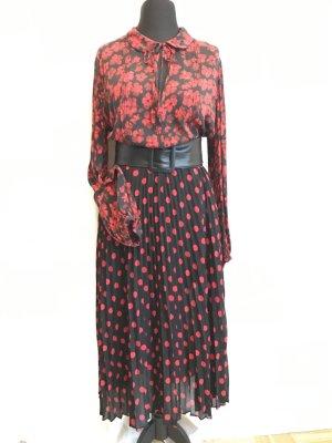 MCQ Jedwabna bluzka czerwony-czarny Jedwab