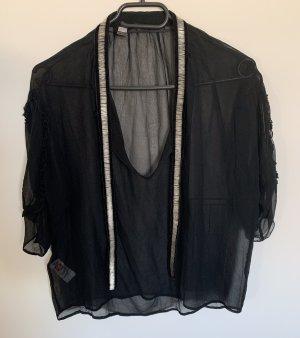 MNG Silk Blouse black silk