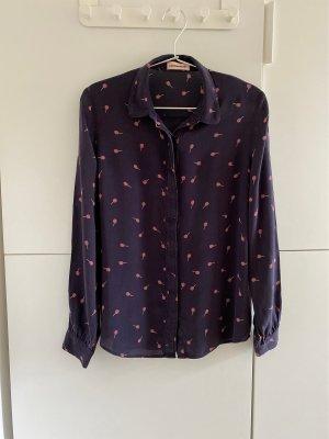 Custommade Long Sleeve Blouse dark violet-dark blue