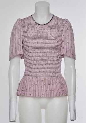 Isabel Marant Blouse pink-anthracite silk