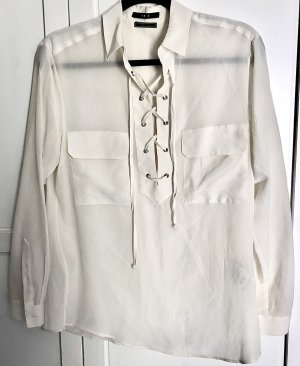 Set Fashion Silk Blouse natural white silk