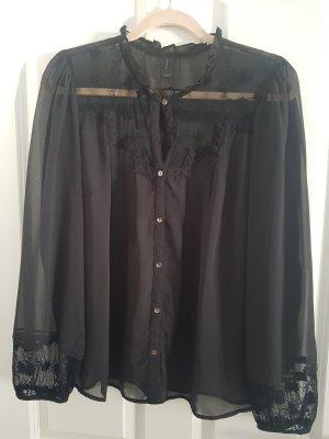 Vero Moda Jedwabna bluzka czarny Poliester
