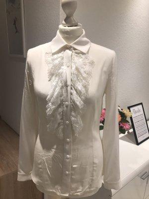 Luisa Spagnoli Blusa de seda blanco puro Satén