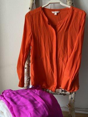 Seidenbluse Orange Gr.XS