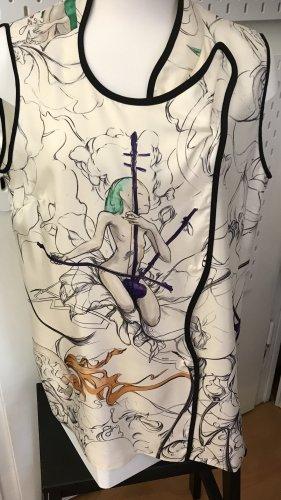 Prada Blusa in seta multicolore