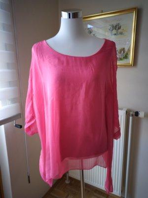 Pura Seta Kimono Blouse pink-magenta