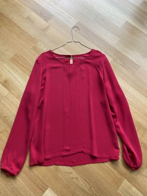 Blusa de seda rojo oscuro