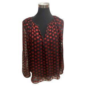 Diane von Furstenberg Tunique-blouse noir-rouge foncé