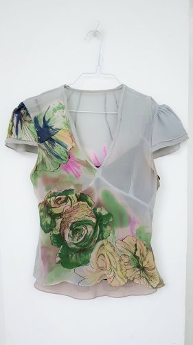 Seidenbluse// Seidentop mit Blumenprint
