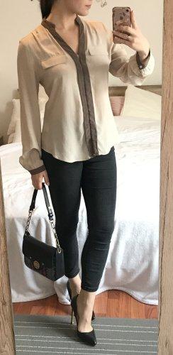 Seidenbluse Steffen Schraut Gr. 38 S-M beige Hemd Bluse Seide Silk Designer