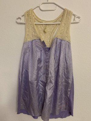 Pepe Jeans Blusa de seda malva-púrpura Seda