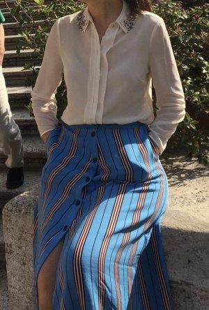 Ted baker Jedwabna bluzka w kolorze białej wełny Jedwab