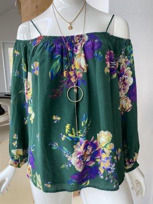 Maeve Blusa de seda multicolor Seda