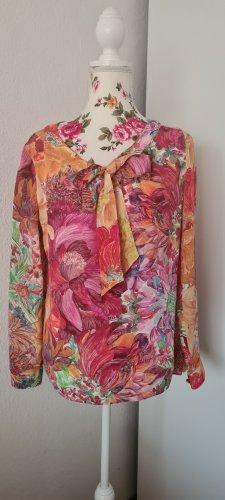0039 Italy Blusa de seda multicolor Seda