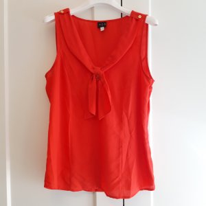 1.2.3. UN DEUX TROIS Paris Silk Top gold-colored-bright red