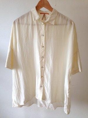Boss Orange Jedwabna bluzka w kolorze białej wełny-biały