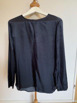 Drykorn for beautiful people Zijden blouse donkerblauw Zijde