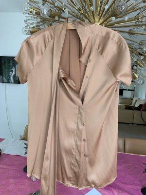 Etro Short Sleeved Blouse light orange silk