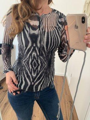 Jet Set Zijden blouse zwart-wit
