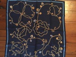 Cartier Zijden doek donkerblauw-goud