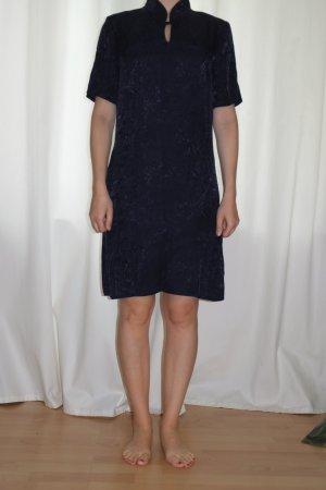 Robe Qipao bleu foncé