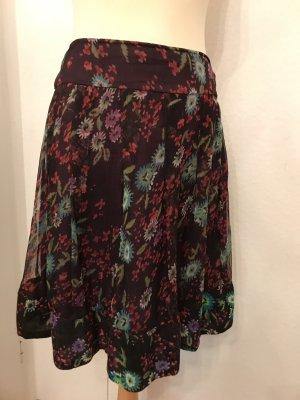 Magic Woman Plaid Skirt multicolored silk