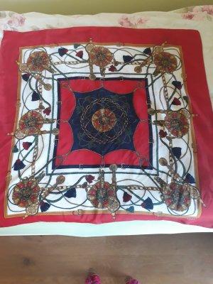 Hermès Silk Scarf dark red-dark blue