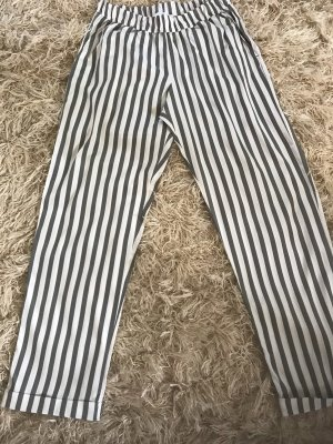 Peg Top Trousers sage green-white