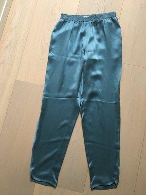 Stefanel 7/8 Length Trousers cornflower blue silk